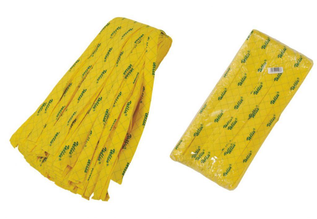 VELLIS σφουγγαρίστρα κίτρινη τυπωμένη επαγγελματική
