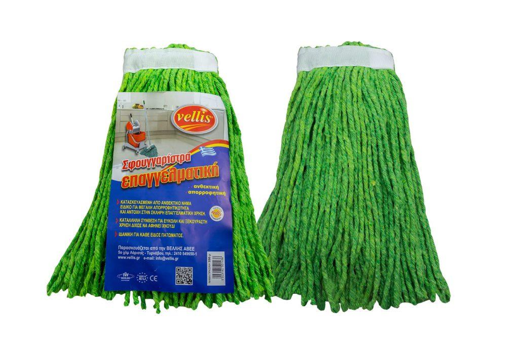 VELLIS σφουγγαρίστρα νήμα πράσινη επαγγελματική 350gr