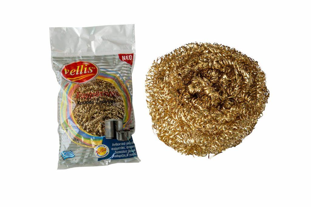 VELLIS σπόγγος συρμάτινος χρυσός 15gr